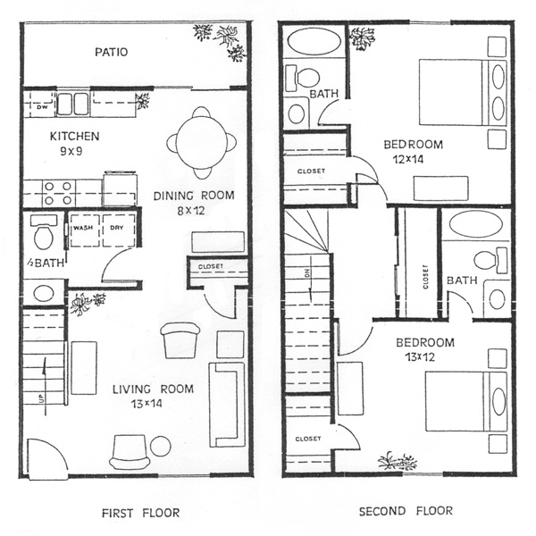 High Quality Simple 2 Story House Plans 3 Two Story House Floor 17 ...